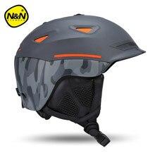Nandn EPS + ABS Pokrywa Motocyklowe Kaski Narciarskie Narty Marki Kapelusze dla dorosłych Mężczyzn Kobiety Narty Śnieg Sport Skating Kaski Ochronne kaski