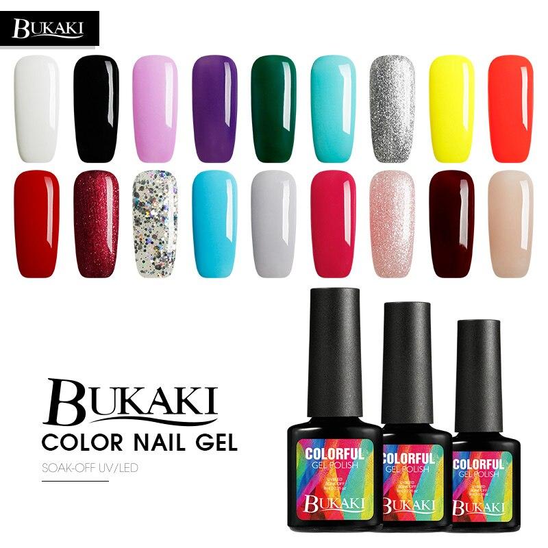 BUKAKI French Nude Colors Gel Nail Polish Shiny Nail Lamp Nail Gel Soak Off UV Gel