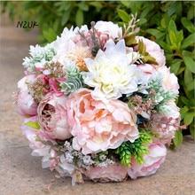 ramo de flores novia pink white beach wedding flowers bridal bouquets vintage wedding decoration artificial wedding bouquets