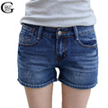 Lace girl casual algodão shorts jeans shorts jeans 2017 das mulheres da moda fina estilo de friso shorts jeans verão shorts jeans finos