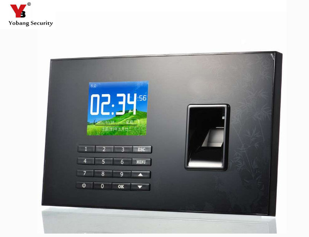 YobangSecurity 2.8 Inch TFT LCD TCP/IP Biometric Fingerprint Attendance Time Clock USB Employee Time Recorder Control System