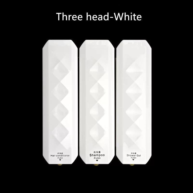 Hotel bathroom liquid soap dispensers Wall-mounted hotel toilet bathroom manual three heads MJ7016