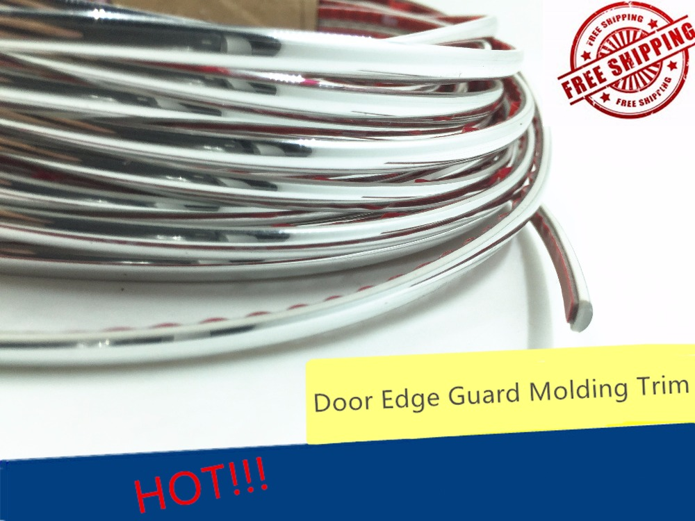 Silver 4mm x 15m Car Decoration Sticker Car Chrome Styling Molding Trim Air Outlet Strip Decoration Taillight Edge Accessories