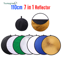 43inch 110cm 7 in 1 Transportable Collapsible Mild Spherical Images Reflector for Studio Multi Photograph Disc Photographic Equipment