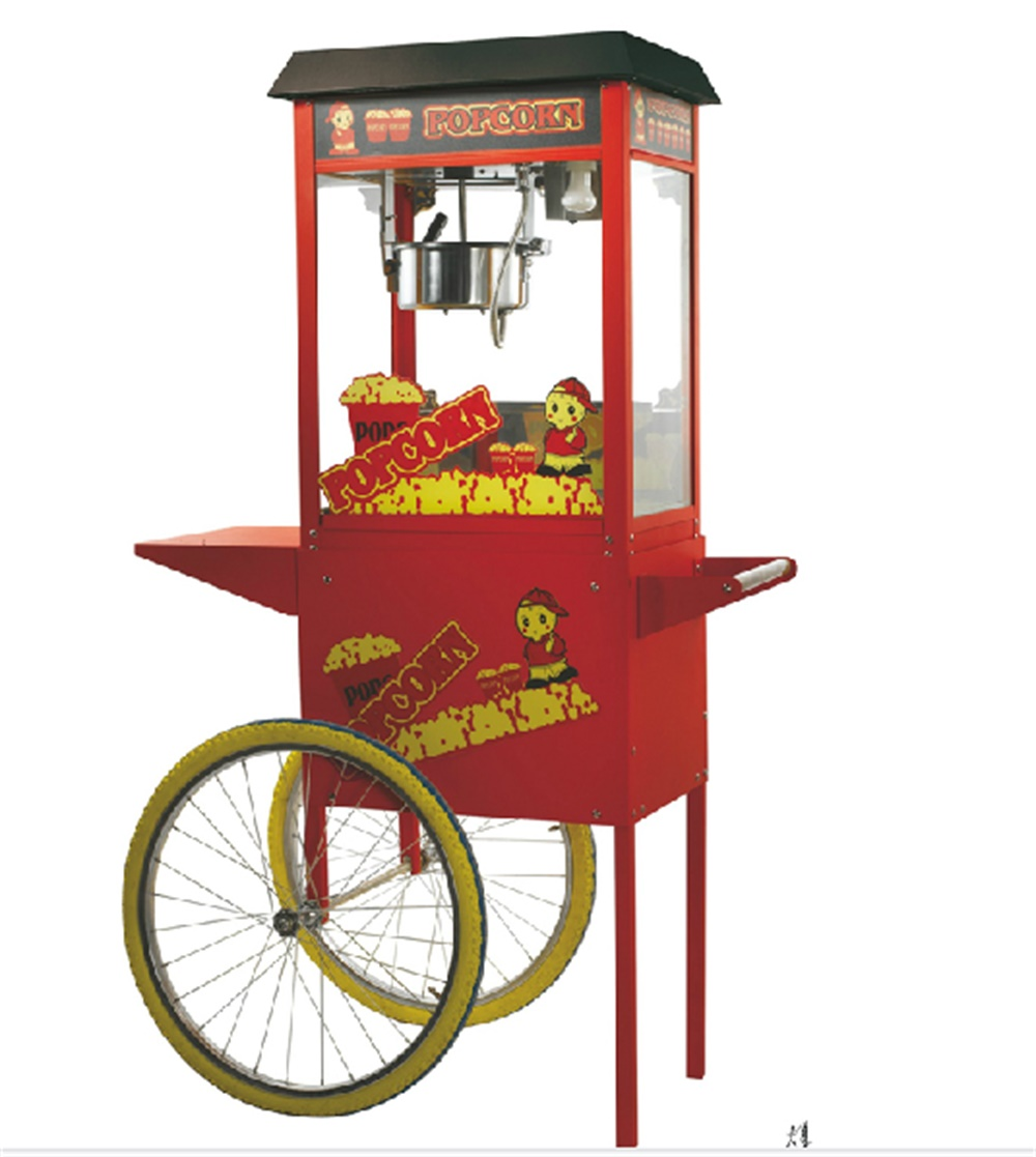 great price luxurious electric popcorn machine with cart che