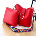 Korean Style Handbag Ladies Package Women's Bucket Shoulder Bags Sale For Ipad Composite Bag Red Gray Blue Black Brown