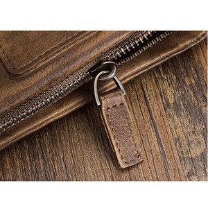 Image 4 - AETOO portefeuille en cuir fait à la main Original, court couche de cuir rétro, verticale, fermeture éclair, boucle masculine, porte monnaie, couple, Vintage