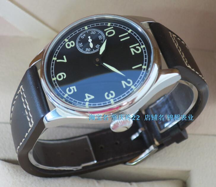 44mm PARNIS Asian 6497 3600 Gooseneck Mechanical Hand Wind movement Luminous font b men s b
