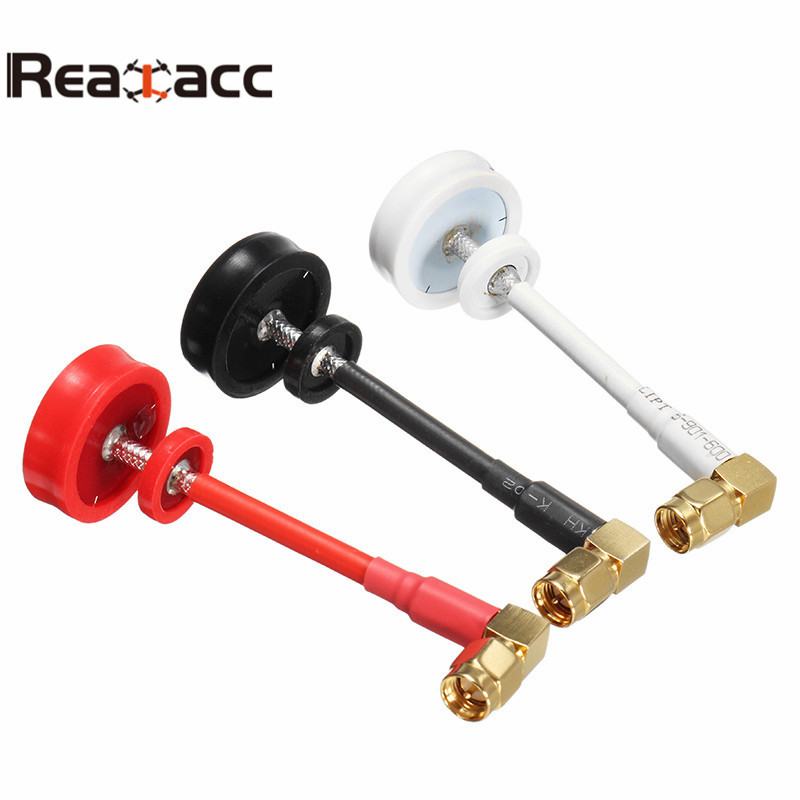 Realacc Pagoda Antenna LHCP Right Angle 5.8G 5dBi 50W Omnidirectional Omni FPV Antenna SMA/RP-SMA For RC FPV Drone Multirotor 5dbi 5 8g wide angle sma plug flat fpv antenna array for r c helicopter white deep blue