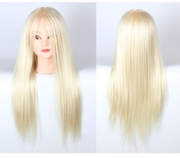 20inch Golden Hair Hair Mannequin Head Practice With Stand Woman Mannequin Head Hairstyling Cosmetology Display Wig