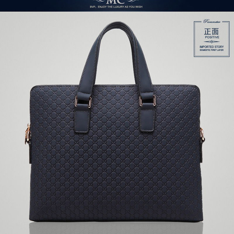 ФОТО 2017 men's handbag famous designer brand bags laptop bag briefcase business bag casual bag cow leather genuine leather totes
