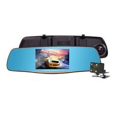Best Buy 5″IPS car dvr with Dual Camera Lens Full HD 1080P 30FPS Video Registratory Rearview Mirror Dashcam Built-in microphone / speaker