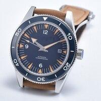 41mm top brand Luxury male mechanical sport clock Sapphire canlendar leather Ceramic Bezel miyota Automatic men's wrist watches