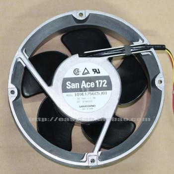 Sanyo Denki 109E1756C5J01 DC 56V 1.0A 172x172x51mm Server Cooling Ffan