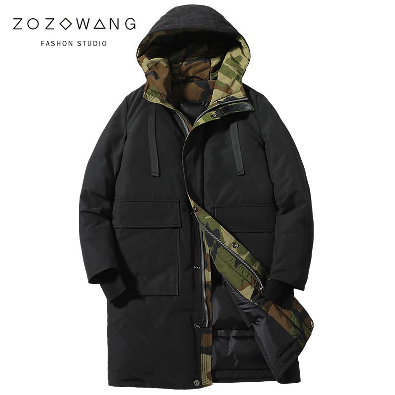 ZOZOWANG 2019 Spring New Plus Size Down Jacket For Men Brand Clothing Long Winter Thick Warm Duck Down Jacket Male Top Quality