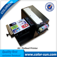 High Quality A4 Size Flatbed Printer Machine For PrInt CD DVD Cards