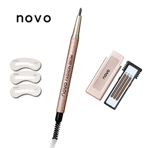Image 3 - 1 шт. профессиональный макияж для бровей с заправкой, легко носить, пигментные водостойкие коричневые и серые карандаши для бровей, набор косметики для макияжа