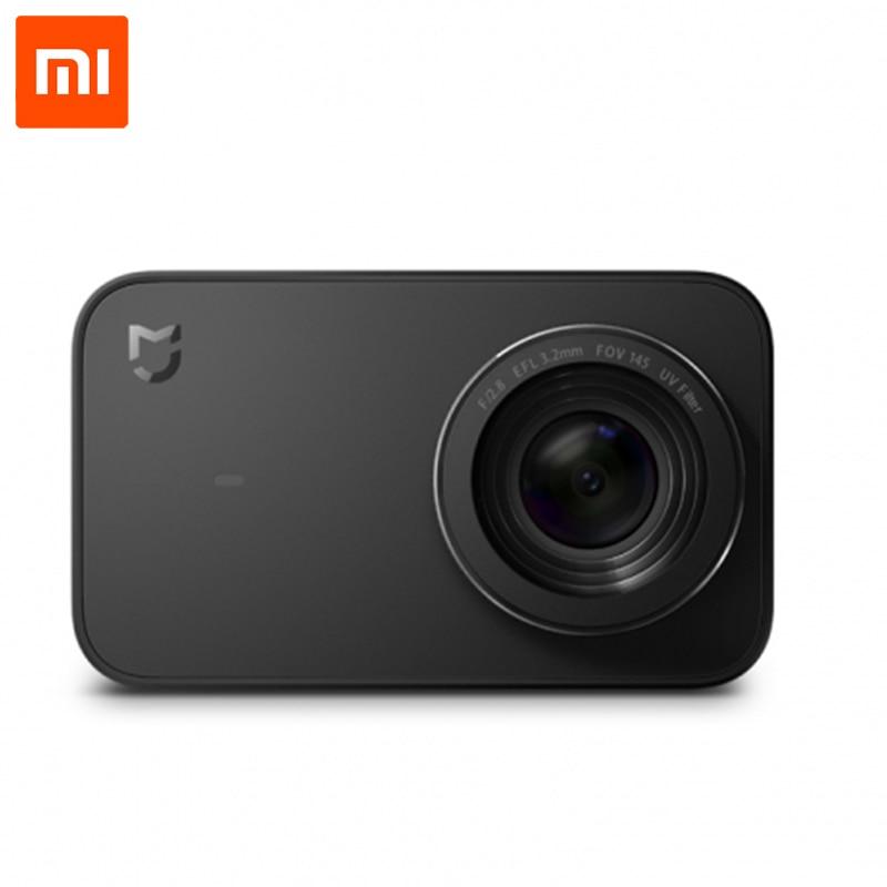 Xiaomi Mijia действие Камера 4 К видео Запись Wi Fi цифровой мини Спорт Камера s 145 широкий Anglen приложение Управление 2,4 дюймов сенсорный осыпи
