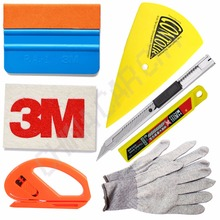 nylon anti-static gloves wool suede squeegee safe cutter 3D Car Carbon Fiber Vinyl Film Sticker Wrapping Install Tool Set K43