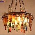 IWHD Stijl loft Retro Hanger Lamp Vintage Industriële Glazen Fles Hanglamp Creatieve Ijzer Hanglampen Voor restaurant Lamparas