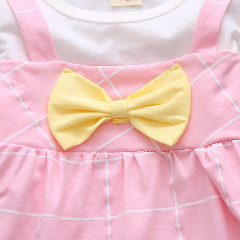 ฤดูร้อนเด็กหญิงฝ้ายเสื้อผ้าเด็ก Bowknot เสื้อยืดกางเกงขาสั้น 2 ชิ้น/เซ็ตเด็กวัยหัดเดินเสื้อผ้าแฟชั่นชุดเด็ก Tracksuits