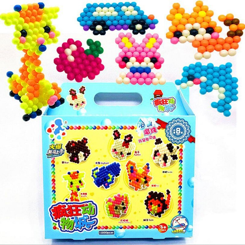 Educational Toy Creative Magic Aqua Bead Box Kit Girl Boy Crystal Kid Toy Children Handmade DIY Toys Craft Toy Water Sticky Bead