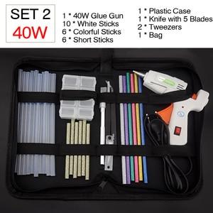 Image 5 - Free Shipping 40W Glue Gun Set Electric Heat Hot Melt Crafts Repair Tool Professional DIY 110 240V 40W Gift