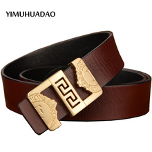 Cowskin real leather-based belts for males good luxurious top quality style belt for girls waist male denims strap mens free delivery