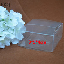 10pcs High Quality 9x9x4cm Transparent Plastic PVC Box Wedding Favor Gift Box PVC Transparent Candy Chocolate Boxes for Party(China)