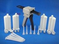 50ML4 1 Manual AB Glue Gun 4pcs 4 1 Cones Mixing Tube