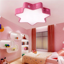 Scandinavian Modern Pink Hexagon Star Wintersweet Dandelion Indoor Led Ceiling Lamp Light Kids Living Room Bedroom Lighting(China)