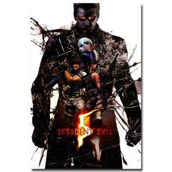 Шелковый Плакат Обитель зла Resident Evil 6 в ассортименте 2