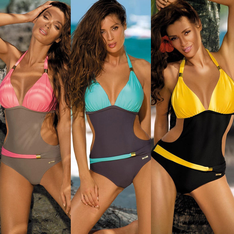 Female Bathing Suit New Design <font><b>Sexy</b></font> Women's <font><b>One</b></font> <font><b>Piece</b></font> <font><b>Swimsuit</b></font> Padded Bikini Summer Vacation Swimwear Monokini <font><b>2019</b></font> image