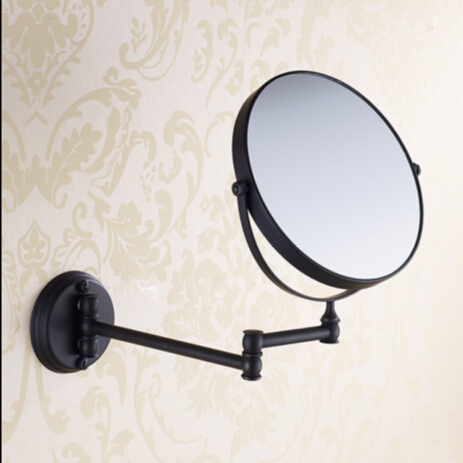 8 ORB Double Side Bathroom Folding Mirror Wall Mounted Extend with Dual Arm 1x3x Magnifying make