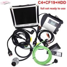 BOM SD Conectar C4 Auto Scanner Code Reader e Programador com Software MB ESTRELA C 4 Laptop Ferramenta de Diagnóstico Profissional