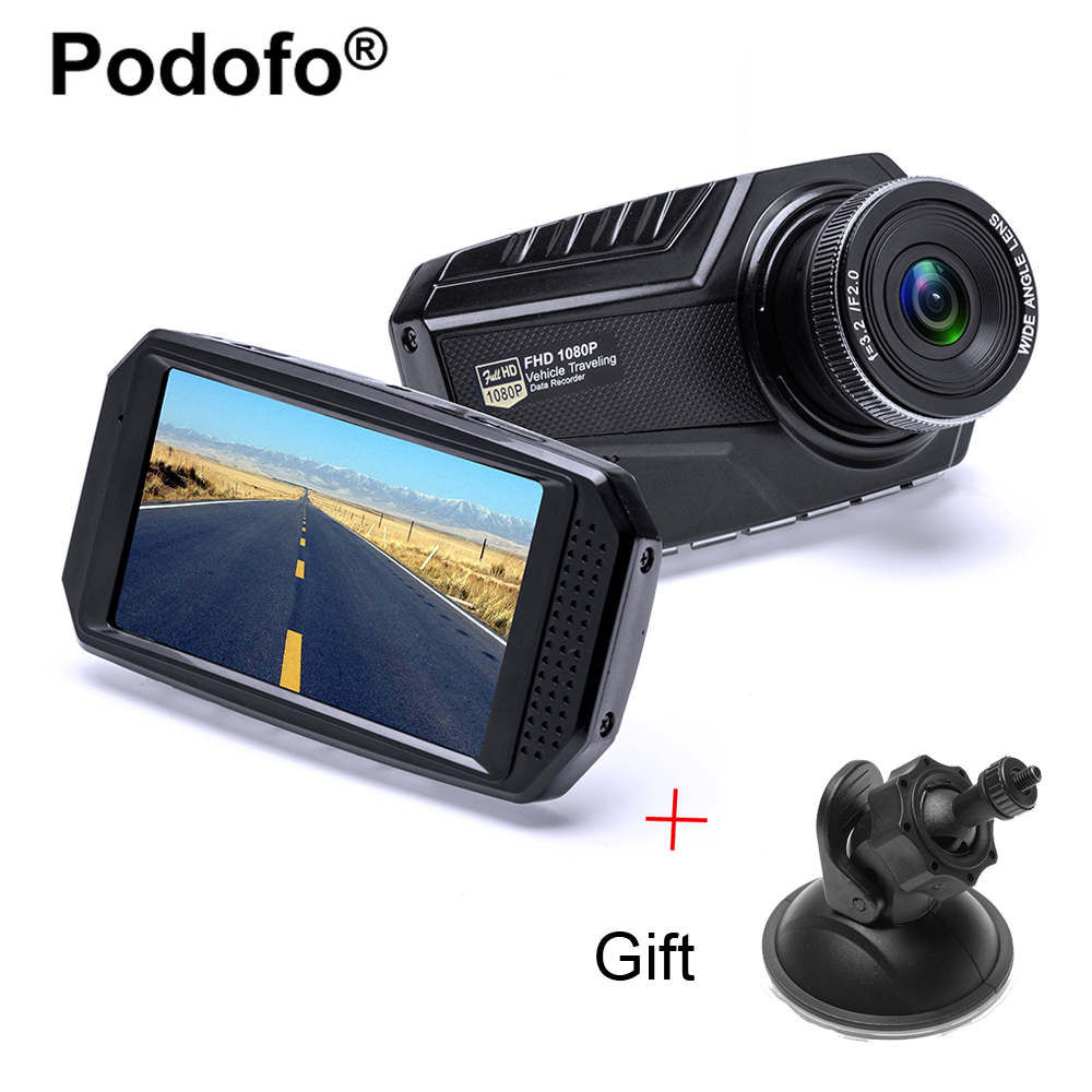 Original Podofo 3.0 Inch Car Dvr Full HD 1080P Registrator Car Camera Digital Video Camcorder Parking Recorder G-Sensor Dash Cam