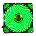 120mm PC Computer 16dB 33 LEDs Case Fan Heatsink Cooler Cooling met Anti-Vibratie Rubber, 12CM Fan, 12VDC 3P IDE 4pin groen