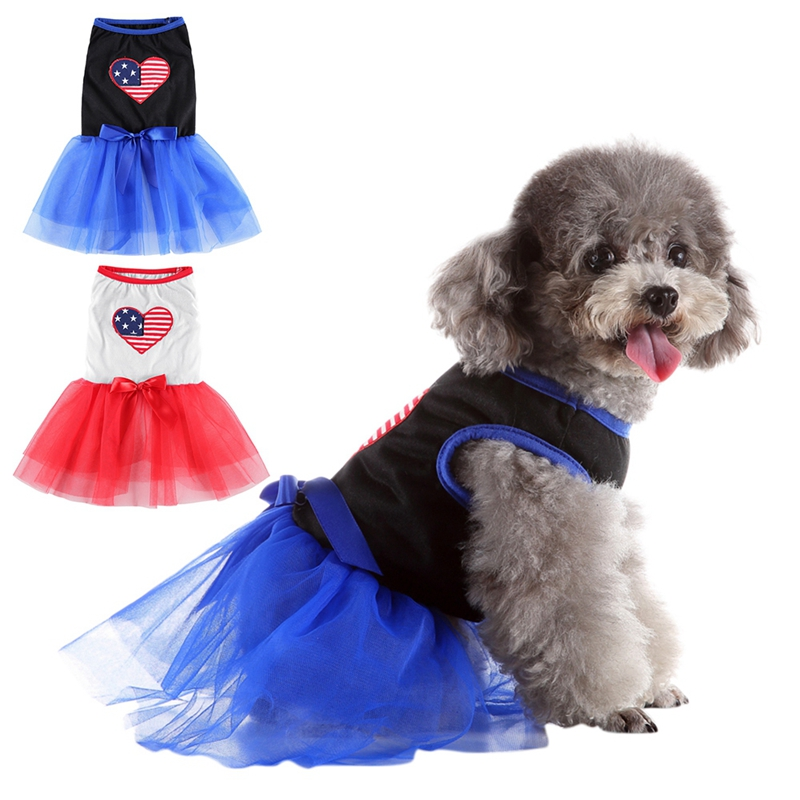 <font><b>Dog</b></font> Skirts pet <font><b>Harness</b></font> <font><b>Dress</b></font> Spring Summer Clothes Vest Shirts Lace <font><b>Dress</b></font> Love Heart For Small Medium <font><b>Dogs</b></font> image