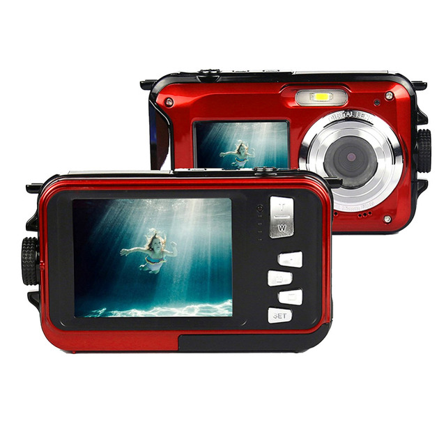 Double Screens Waterproof Digital Camera 2.7 with Microphone HD Video Face Detection Digital Camera Anti-shake Direct print