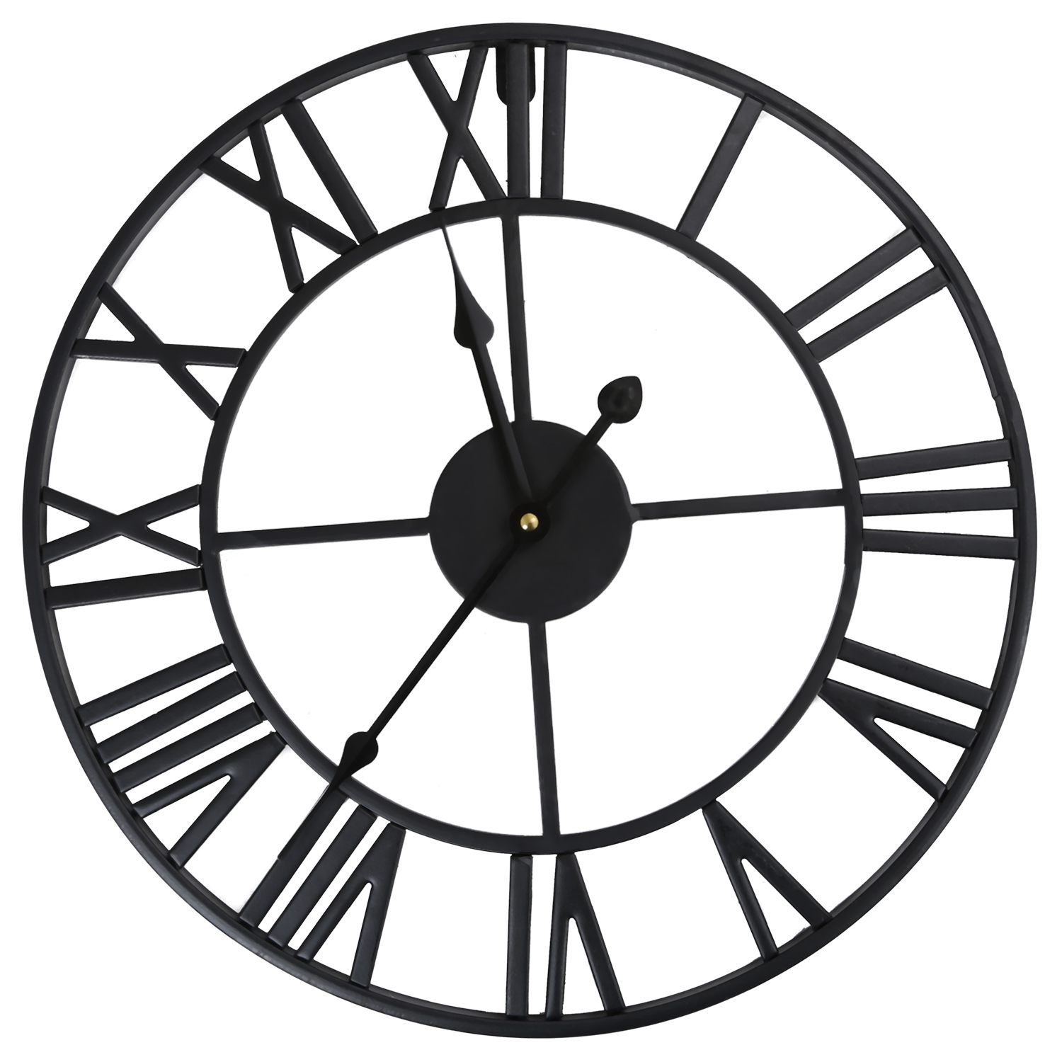 ce88ef238a51 HOT-LARGE OUTDOOR GARDEN WALL CLOCK BIG ROMAN NUMERALS GIANT OPEN ...