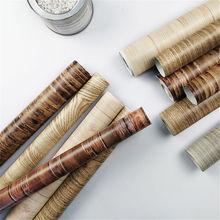 5 Styles Retro Wood Grain Contact Paper Self-Adhesive Shelf Drawer Liner Door Table Sticker Wood Grain PVC Wallpaper Home Decor недорого