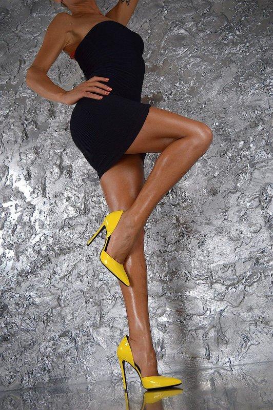 Pointu Pompes Déification Sexys Bout Chic Femme Jaune Haute Zapatos Hauts Vif Sexy Escarpins Pic De Chaussures Dames Talons Mujer As 6476Rwq