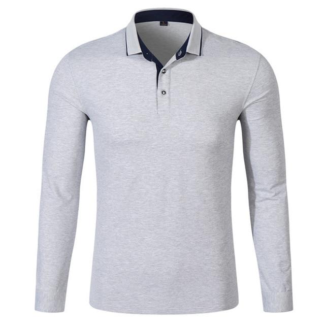 bf6ef4548b 2018 hombres Polo Hombre camisa hombres moda Collar Camisas manga larga  Casual Camisetas Masculinas talla grande