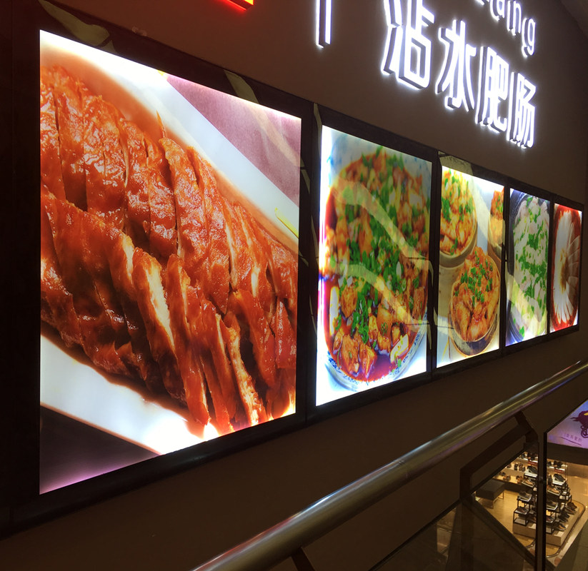 Aluminum Frame Slim Restaurant Led Menu