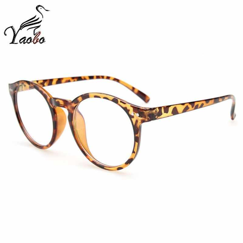 b5677249fb2 ... Fashion Black round glasses clear frame Women Spectacle myopia glasses  2018 Men EyeGlasses Frame nerd optical ...