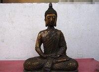 Ev ve Bahçe'ten Statü ve Heykelleri'de 150610 Tathagat S1766 Tayland Budizm Tapınağı Bakır Bronz Tayland Sakyamuni Buda Heykeli