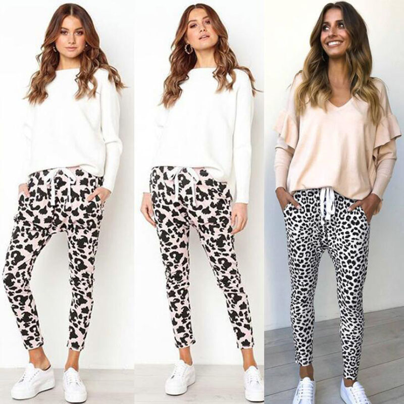 Sexy Printed Loose Pants Casual Fashion New Style Sports Pants For Women Female Feminine Joggers Women