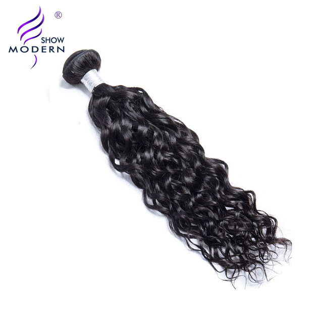 Modern Show Peruvian Water Wave Human Hair Bundles 1 Piece Natural Color 100 Bouncy Remy Hair Extension 10''-28'' Free Shipping