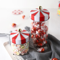 Creative Carousel Style Glass Sealing Storage Bottles Jars Cartoon kitchen food glass storage can