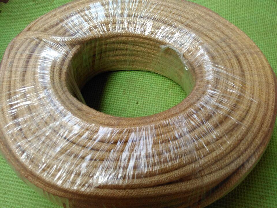 100 Mètres corde de chanvre câble rond 2x0.75 Vintage Câble textile Rétro corde Fil Électrique tissu câble cordon